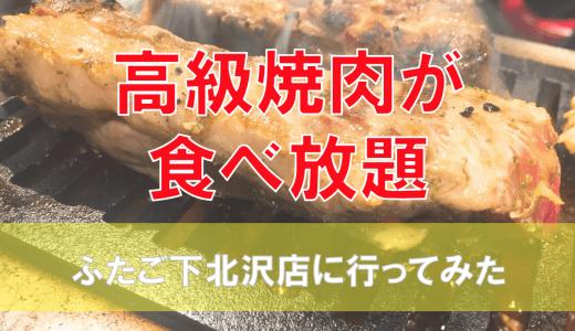 焼肉ふたご伝説の食べ放題メニューを下北沢店で堪能してきた