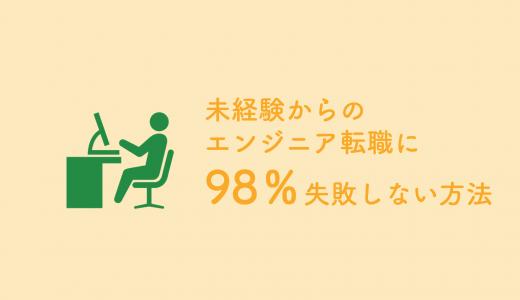 未経験からのエンジニア転職に98%失敗しない方法